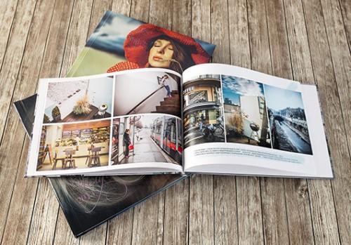 Книга в твердом переплете с журнальными страницами